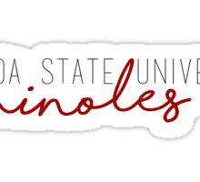Florida State University Seminoles Sticker
