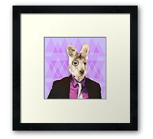 Witty Wallaby with Monocle  Framed Print