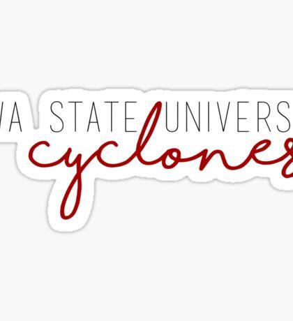 Iowa State University Cyclones Sticker
