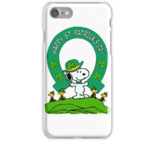 Snoopy - st patrick's day iPhone Case/Skin