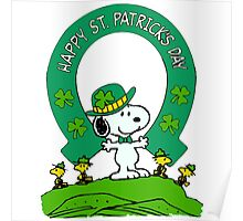 Snoopy - st patrick's day Poster