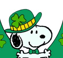 Snoopy - st patrick's day Sticker
