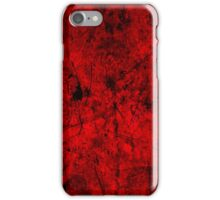 Cool, unique modern red grunge abstract painting art design iPhone Case/Skin