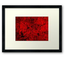 Cool, unique modern red grunge abstract painting art design Framed Print