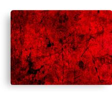 Cool, unique modern red grunge abstract painting art design Canvas Print
