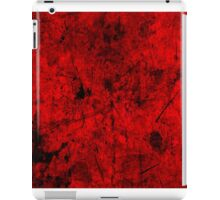 Cool, unique modern red grunge abstract painting art design iPad Case/Skin