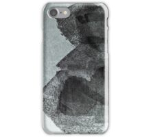 Cool, unique modern grey black abstract painting art design iPhone Case/Skin