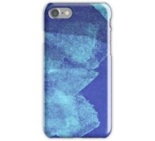 Cool, unique modern abstract blue ocean painting art design iPhone Case/Skin