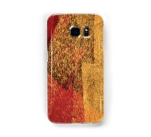 Cool, unique modern red yellow abstract painting art design Samsung Galaxy Case/Skin