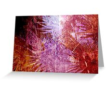 Cool, unique modern abstract pink nuature digital art design Greeting Card