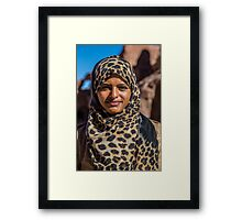 Jordan. Petra. Portrait of a Girl. Framed Print