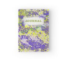 Paint Splash Purple and Green Hardcover Journal