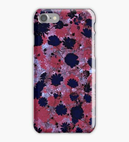 Cool, unique modern floral flower pattern digital art design iPhone Case/Skin