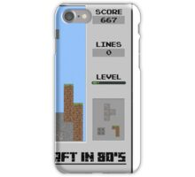 Minecraft in 80's iPhone Case/Skin