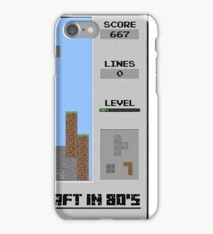 Minecraft in 80's iPhone Case/Skin