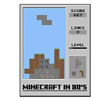 Minecraft in 80's Photographic Print