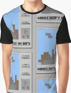 Minecraft in 80's Graphic T-Shirt
