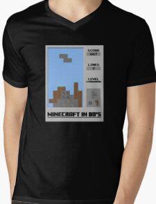 Minecraft in 80's Mens V-Neck T-Shirt