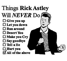Rick Astley Photographic Print