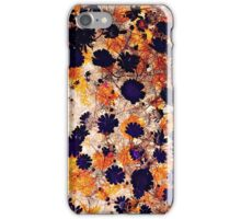 Cool, unique modern daisy flower floral pattern digital art design iPhone Case/Skin