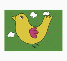 Yellow bird with pink dots Kids Tee