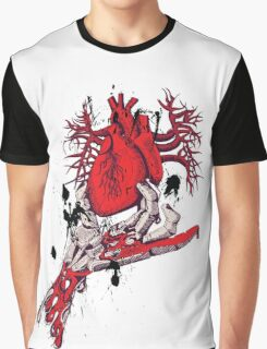 Bloody Plucked Heart Graphic T-Shirt