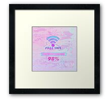 free wifi loading Framed Print
