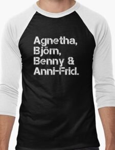 ABBA [line-up] Men's Baseball ¾ T-Shirt