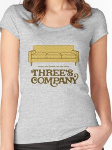 Three's Company Women's Fitted Scoop T-Shirt