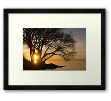 Fiery Sunrise - Like A Golden Portal To Another World Framed Print