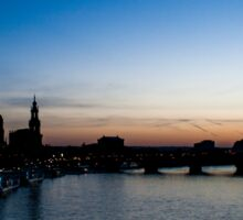 Sunset Dresden - Germany Sticker
