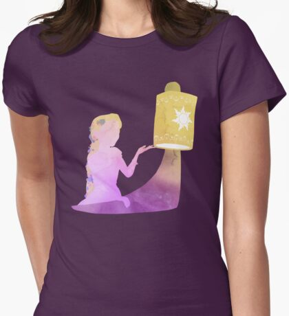 Floating Lights Womens Fitted T-Shirt