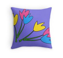 Tulips with purple  Throw Pillow