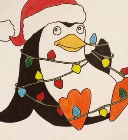 Holiday Penguin Sticker