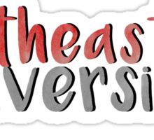 Northeastern University Sticker