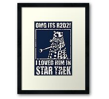 R2-D2 Star Trek Dalek Framed Print