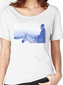 Capt. Call in a Snowstorm Women's Relaxed Fit T-Shirt