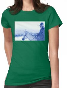 Capt. Call in a Snowstorm Womens Fitted T-Shirt