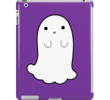 Cute Ghost with Black Outline iPad Case/Skin