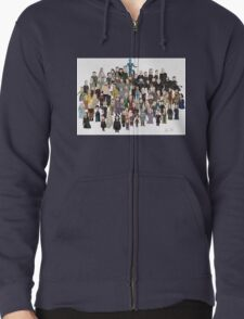 Game of Burgers - All Characters Zipped Hoodie