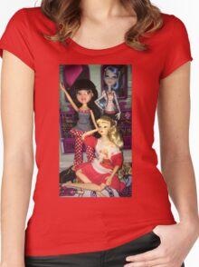 Monster High + Barbie + Bratz  Women's Fitted Scoop T-Shirt