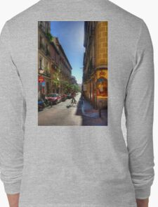 Old Streets of Madrid Long Sleeve T-Shirt