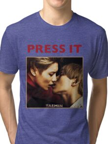 TAEMIN - PRESS IT Tri-blend T-Shirt