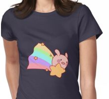 Rainbow Shooting Star Pig Womens Fitted T-Shirt