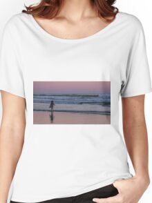Child enjoying sunset Women's Relaxed Fit T-Shirt
