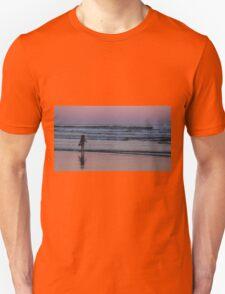 Child enjoying sunset Unisex T-Shirt