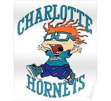 Charlotte Hornets Nickelodeon Night Poster