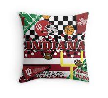 Indiana University Collage Throw Pillow