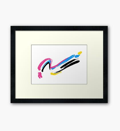 4 colors Framed Print