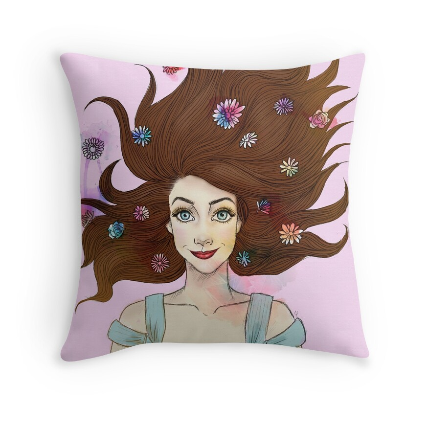 Zoella Throw Pillows : Zoella Design & Illustration: Throw Pillows Redbubble